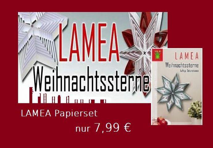 Lamea Weihnachtssterne aus lichtdurchlässigem Papier, kreativer, neuer Stern