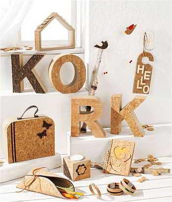 Kork ist der neue Basteltrend 2016. Korkschmuck, Nähen mit Kork oder Korkpapier, alles geht.